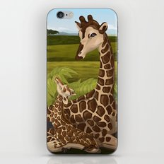 Giraffes, A Mother's love iPhone & iPod Skin