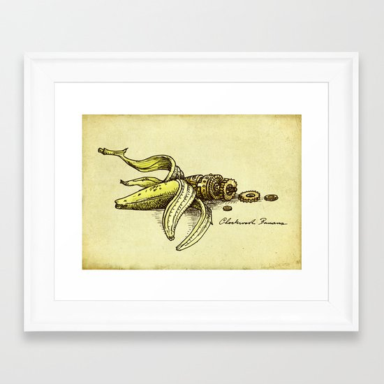 Clockwork Banana Framed Art Print