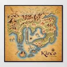Kanto Map Canvas Print