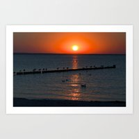 Holy Sunset On The Balti… Art Print