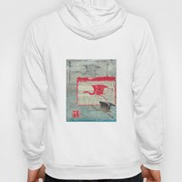 Blue Heron Collage Hoody