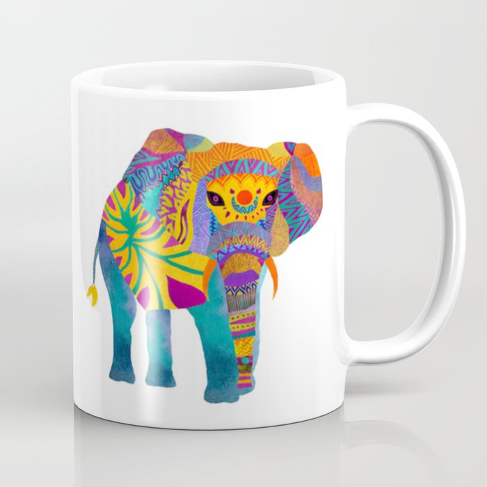 whimsical elephant mug by pom graphic design society6