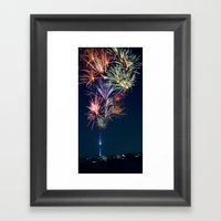 Sparkling City Framed Art Print