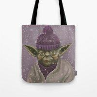 Christmas Yoda (fiolet) Tote Bag
