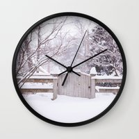 Snow Gate  Wall Clock