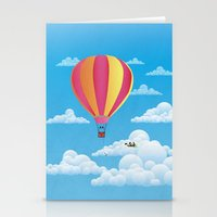 Picnic In A Balloon On A… Stationery Cards