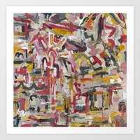 Warm And Scattered Art Print