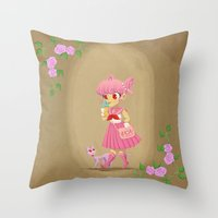 Retro Sailor Chibi Moon Throw Pillow