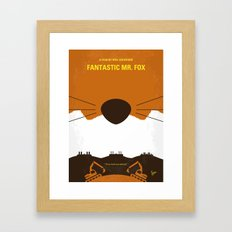 No673 My Fantastic Mr Fox minimal movie poster Framed Art Print