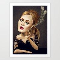 Adele Art Print
