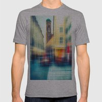Frauenkirche - Munich - … Mens Fitted Tee Athletic Grey SMALL