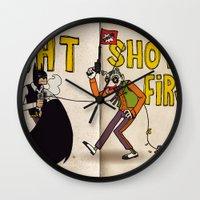 BAT SHOT FIRST Wall Clock