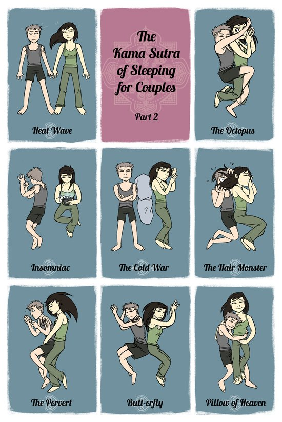 The Kama Sutra of Sleeping for Couples Part 2 Art Print