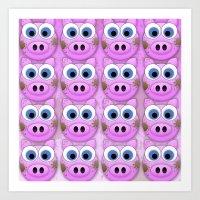 Dirty Little Piggies Art Print