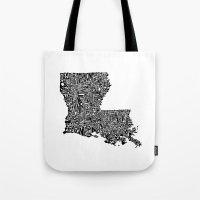 Typographic Louisiana Tote Bag