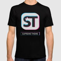 Supreme WordPress Theme Mens Fitted Tee Black SMALL