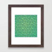 Cannabis / Hemp / 420 / Marijuana  - Pattern Framed Art Print