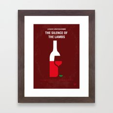 No078 My Silence of the lamb minimal movie poster Framed Art Print