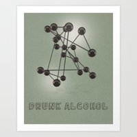 Drunk Alcohol Art Print
