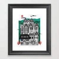 Tudor Revival Framed Art Print