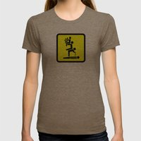 All For One Womens Fitted Tee Tri-Coffee SMALL