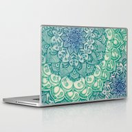 Laptop & iPad Skin featuring Emerald Doodle by Micklyn