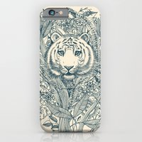 tiger iPhone & iPod Cases featuring Tiger Tangle by micklyn