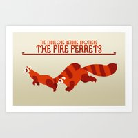The Fire Ferrets Art Print