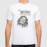 One good thing about music Mens Fitted Tee Ash Grey SMALL