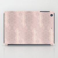 Floral Lace // Pink Semi-Circles iPad Case