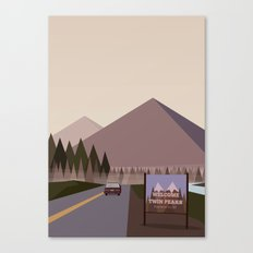 Welcome to Twin Peaks Poster Canvas Print