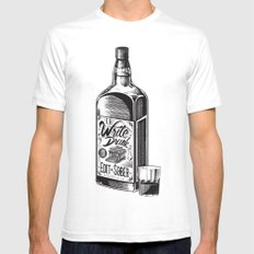 Write Drunk. Edit Sober Mens Fitted Tee White SMALL