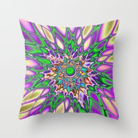 Psychedelic Smash Throw Pillow