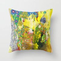 Virgo: The Mind Penetrator (Aug 23 - Sep 22) / Gouache Original A4 Horoscope Illustration / Painting Throw Pillow
