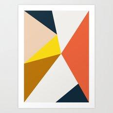 Geo colors Art Print
