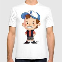 DIPPER! Mens Fitted Tee White SMALL