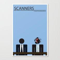 Scanners - Altenative Movie Poster Canvas Print