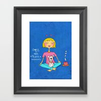Dogs Are Peace ❤️ Framed Art Print
