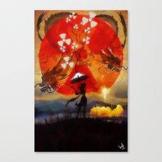 umbrellaliensunshine: SpaceX dragon launch Canvas Print