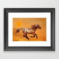 HORSE - An Appaloosa Cal… Framed Art Print
