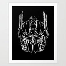 Pinstripe Prime Art Print