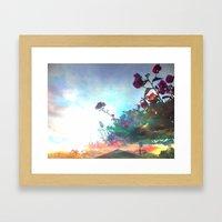 Storm Of A Green Thumb Framed Art Print
