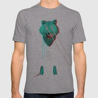 Wolf With F**king Lasers Mens Fitted Tee Athletic Grey SMALL