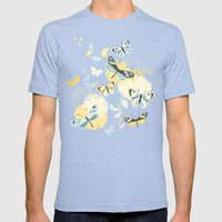 Butterflies In The Garde… Mens Fitted Tee Tri-Blue SMALL
