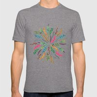 Radial Foliage Mens Fitted Tee Tri-Grey SMALL