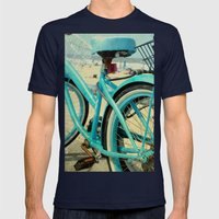 Beach Bike Mens Fitted Tee Navy SMALL