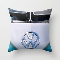 Volkswagen Split Screen Camper Throw Pillow