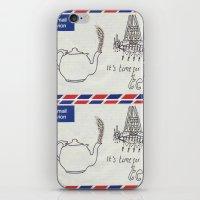 A Parisian, British Tea iPhone & iPod Skin