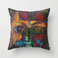 Face#4 Throw Pillow