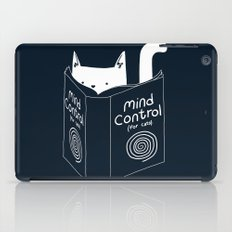 Mind Control For Cats (dark blue) iPad Case